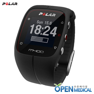 오픈메디칼[POLAR] 폴라 웨어러블 스마트밴드 M400 (Black) - A Stylish GPS Activity Tracking Watch