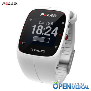 오픈메디칼[POLAR] 폴라 웨어러블 스마트밴드 M400 (White) - A Stylish GPS Activity Tracking Watch