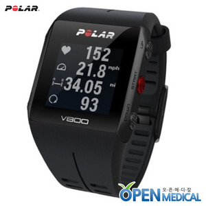 오픈메디칼[POLAR] 폴라 웨어러블 스마트밴드 V800 (Black/Gray) - Smart Coaching and GPS for peak performance