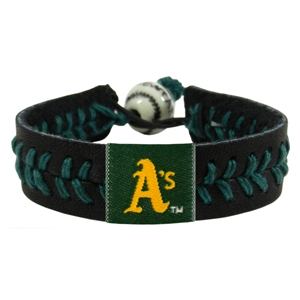 오픈메디칼[10%적립][GAMEWEAR] 게임웨어 Oakland Athletics Black Team Color Baseball Bracelet