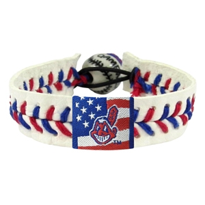 오픈메디칼[10%적립][GAMEWEAR] 게임웨어 Cleveland Indians Stars and Stripes Baseball Bracelet