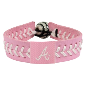 오픈메디칼[10%적립][GAMEWEAR] 게임웨어 Atlanta Braves Pink Leather Baseball Bracelet